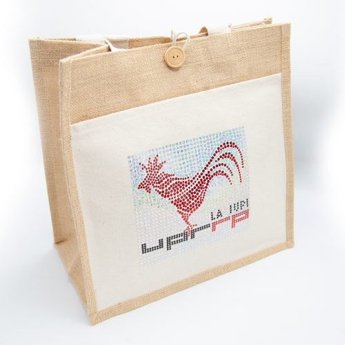 gallito cotton jute tote