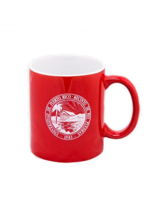 taza roja sello